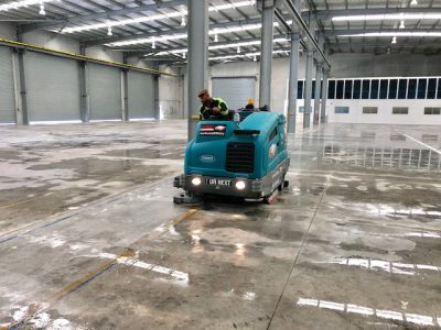 Scrubbing at Rocklea Warehouse