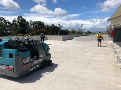 sweeping carpark at hamilton(1)
