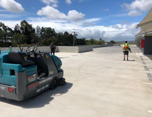 Sweeping Carpark at Hamilton