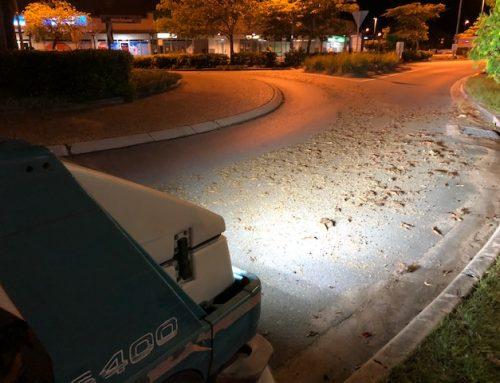 Sweeping Carpark at Keperra