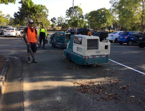 Sweeping Carpark at Logan