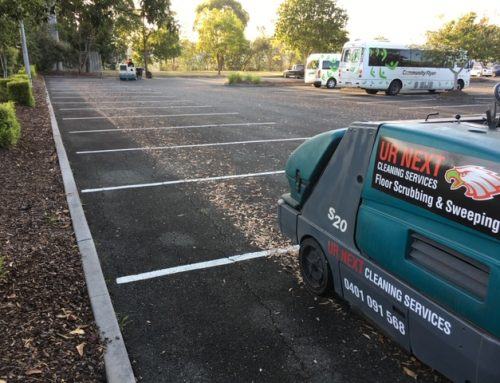Sweeping Carpark at Meadowbrook