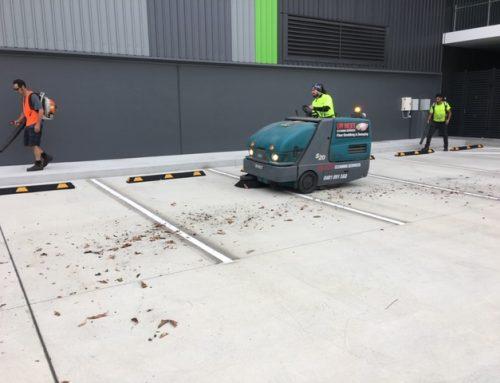 Sweeping Carpark at Nundah