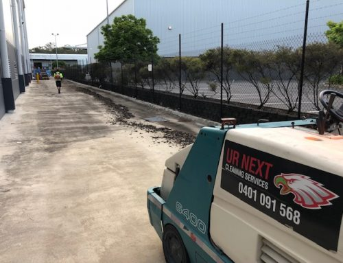 Sweeping Carpark at Portside