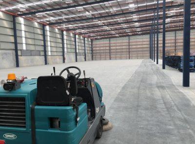 sweeping warehouse at berrinba