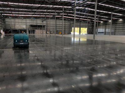 sweeping warehouse at robina