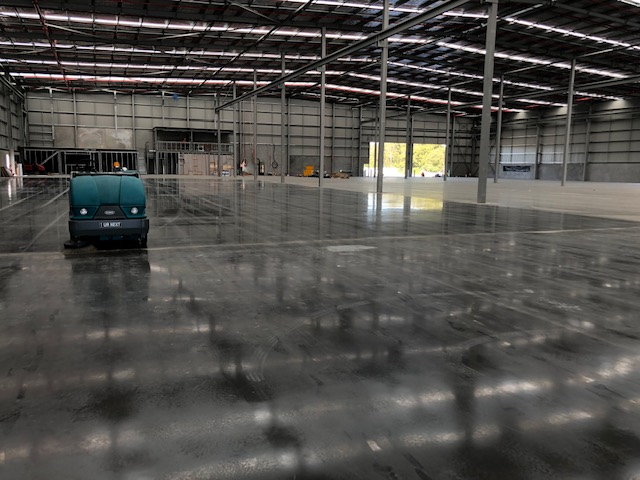 sweeping warehouse at robina