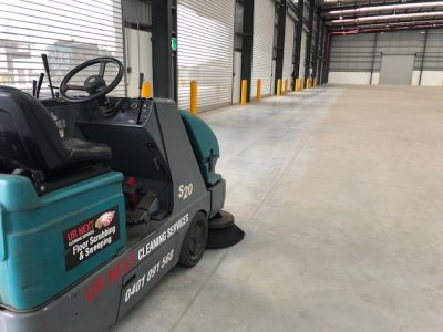 sweeping warehouse at zillmere